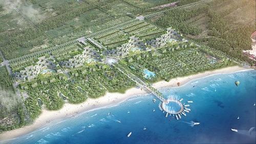 Phối cảnh quần thể nghỉ dưỡng và trung tâm thể thao biển quốc tế Thanh Long Bay. Ảnh:Thanh Long Bay.