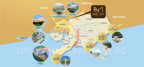 Phú Mỹ Gold City sở hữu vị trí thuận lợi.