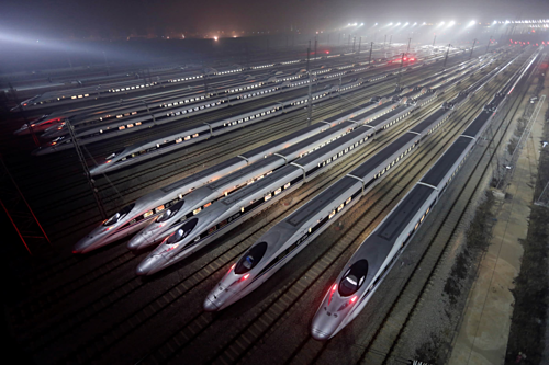 Các tàu cao tốc của Trung Quốc. Ảnh: