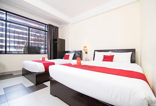 Bên trong một phòng khách sạn của Reddoorz trên đường Đặng Thị Nhu, quận 1, TP HCM.