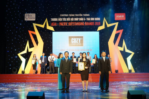 Cozy nằm trong top 10 thương hiệu tiêu biểu hội nhập châu Á - Thái Bình Dương