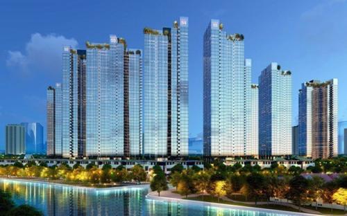 Bất động sản quận 7 có tốc độ phát triển nhanh nhất TP HCM nhờ cơ sở hạ tầng đồng bộ. Ảnh phối cảnh dự án Sunshine City Sài Gòn tại quận 7.