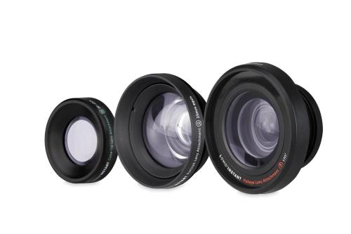 3 lens của một bộ máy ảnh Lomography.