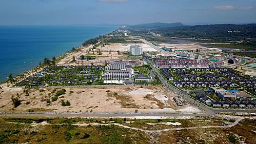 Một góc huyện đảo Phú Quốc, nơi có rất nhiều dự án bất động sản nghỉ dưỡng đang được triển khai. Ảnh: UBND tỉnh Kiên Giang