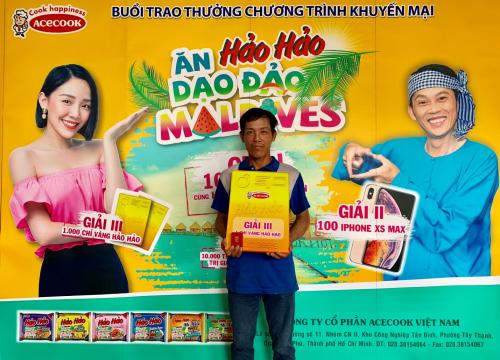 Anh Nguyễn Văn Phì tại buổi trao thưởng ngày 16/7.