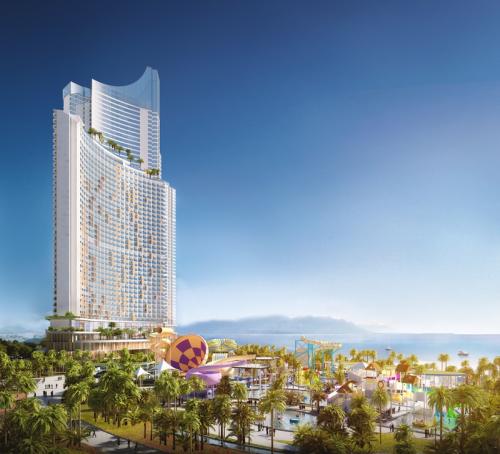 SunBay Park Hotel & Resort Phan Rang sở hữu hệ thống tiện ích quy mô lớn, đa dạng, theo tiêu chuẩn 5 sao quốc tế. Ảnh phối cảnh dự án.