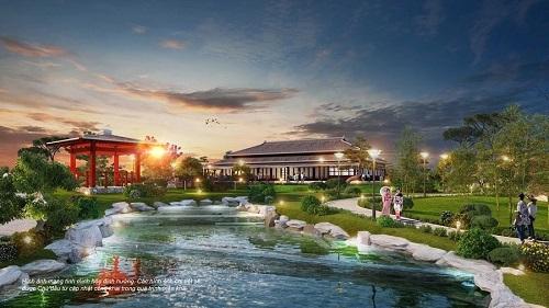 Khu vườn Nhật bổ sung các tiện ích giải trí bên cạnh không gian mang đậm văn hóa Nhật Bản.
