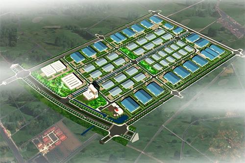 Phối cảnh dự án Khu công nghiệp sạch rộng 139,7ha thuộc Đề án Khu công nghiệp và Đô thị dịch vụ Lý Thường Kiệt, huyện Yên Mỹ, tỉnh Hưng Yên