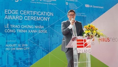 Ông Olivier Đỗ Ngọc Dũng - CEO EZ Land phát biểu tại sự kiện