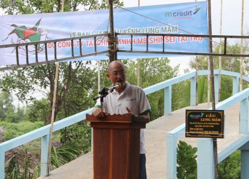 Ông Lê Trương Hoàng, Phó Tổng giám đốc Mcredit phát biểu tại sự kiện.