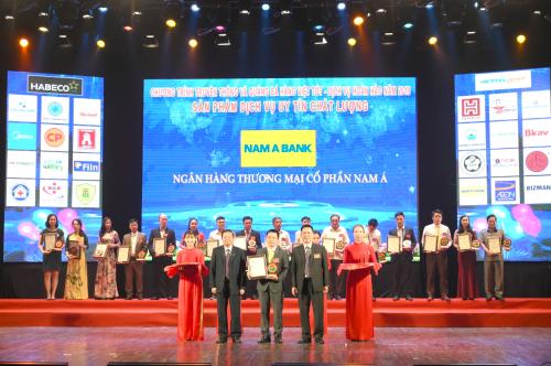 Hai sản phẩm của Nam A Bank vào top 20 sản phẩm chất lượng - ảnh 1