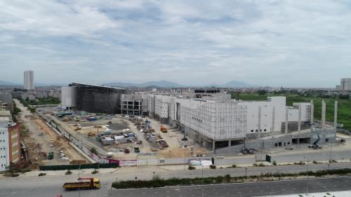 Trung tâm thương mại Aeon Mall đang xây dựng (nguồn: Nam Cường)