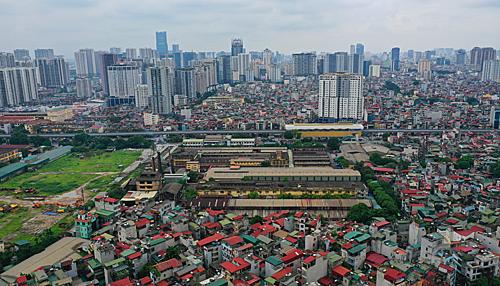 Khu vực Thượng Đình - nơi có rất nhiều nhà máy nằm trong kế hoạch di dời suốt nhiều năm nay nhưng vẫn dậm chân tại chỗ.