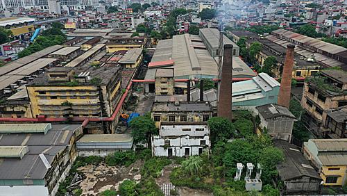 Khu vực đường Nguyễn Trãi - nơi có rất nhiều nhà máy