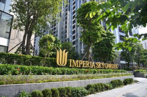 Imperia Sky Garden nằm tại số423 Minh Khai, Hai Bà Trưng, Hà Nội.