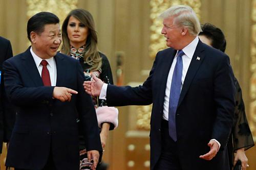 Chủ tịch Trung Quốc Tập Cận Bình và Tổng thống Mỹ Donald Trump. Ảnh: AFP
