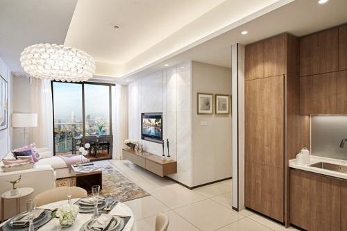 Phối cảnh nhà mẫu Alpha Hill với thiết kế tinh tế, thoả mãn kỳ vọng của khách hàng, đáp ứng những tiêu chuẩn khắt khe, sử dụng những chất liệu chuẩn Dynamic Luxury bảo chứng bởi các thương hiệu nổi tiếng trên thế giới.