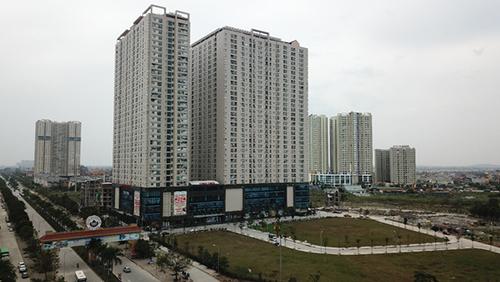 Một trong những dự án chung cư có mặt bằng thương mại lớn ở khu vực ngoài trung tâm. Ảnh: