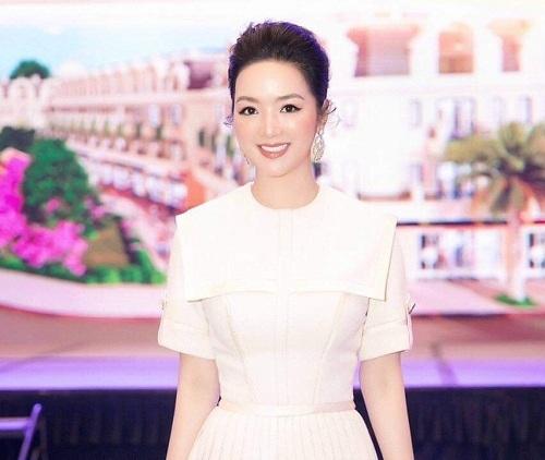 Hoa hậu Gi áng My tại sự kiện ra mắt.