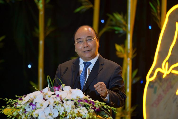 Thủ tướng phát biểu tại hội nghị về phát triển bền vững chiều 12/9. Ảnh: Quốc Tuấn.