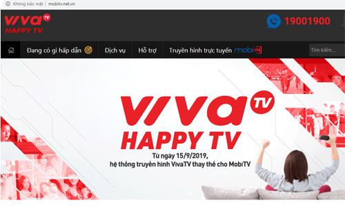 Thông báo đổi tên thương hiệu truyền hình của AVG. Ảnh chụp màn hình