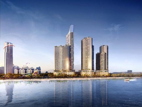 Phối cảnh dự án giải trí nghỉ dưỡng SunBay Park Hotel & Resort Phan Rang, dự kiến cung cấp 3.300 phòng khi hoàn thành vào năm 2022.