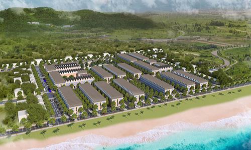 Phối cảnh tổng thể dự án Long Hải New City tại khu vực biển Long Hải.