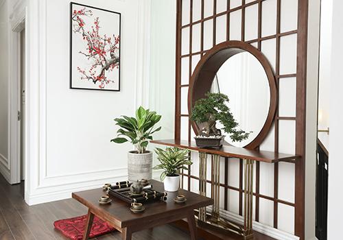 Thiết kế mang phong cách thiền Nhật Bản tại nhà mẫu Young Town Tây Bắc Sài Gòn.