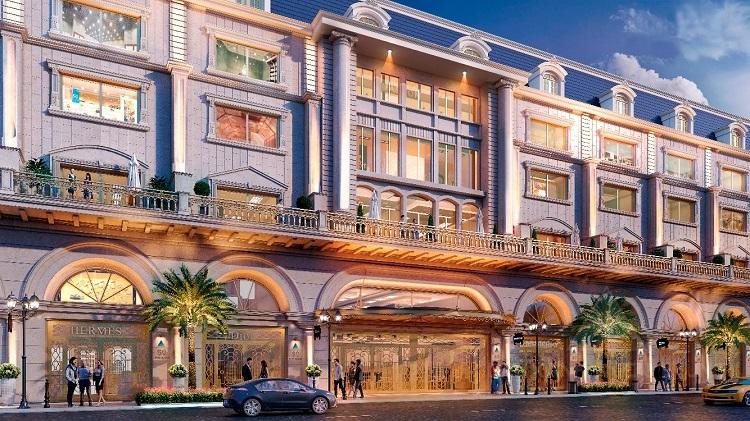 Phối cảnh mặt tiền dòng sản phẩm boutique hotel của Đất Xanh Miền Trung.