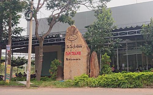 Văn phòng Alibaba tại thị xã Phú Mỹ, Bà Rịa - Vũng Tàu sáng nay. Ảnh: Đăng Khoa