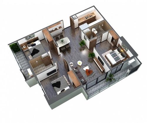Căn hộ 3 phòng ngủ An Bình Plaza giá từ 2,4 tỷ đồng - ảnh 2