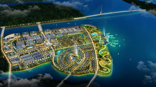 Phối cảnh dự án đô thị sinh tháiKing Bay tại Nhơn Trạch, Đồng Nai.