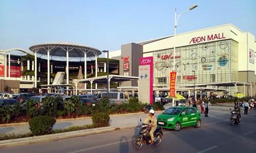 Trung tâm thương mại Aeon Mall cách Le Grand Jardin 2km. Ảnh: Nguyễn Hoài.