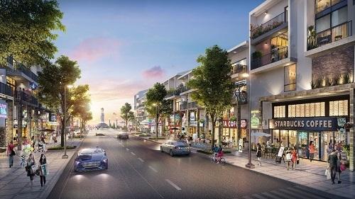 Một góc khu shophouse, bên trong dự án.  Lợi thế đầu tư tại khu đô thị cửa ngõ thành phố Vũng Tàu f 3050 1569291388