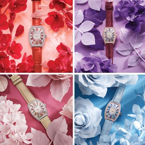Những mẫu đồng hồ thuộc bộ sưu tập Cintrée Curvex Crazy Hours Pastel Asia Exclusive.