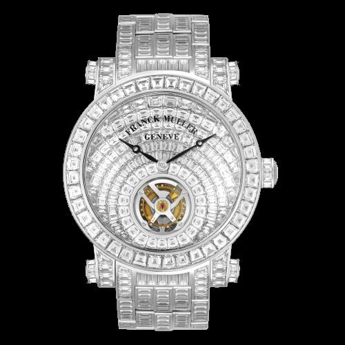Mẫu đồng hồ Franck Muller Round Tourbillon Invisible Set Baguette Diamonds trị giá 30 tỷ đồng