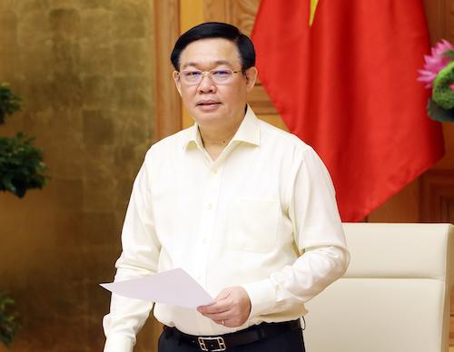 Phó thủ tướng Vương Đình Huệ chủ trì cuộc họp Ban chỉ đạo điều hành giá, ngày 27/9. Ảnh: VGP
