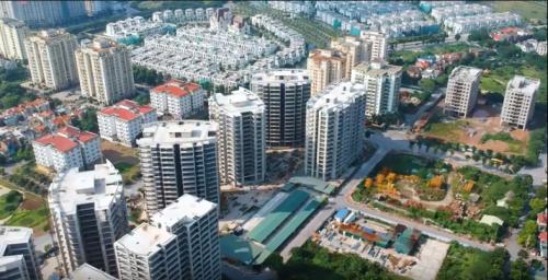 Toàn cảnh dự án Le Grand Jardin với 9 tòa, 1120 căn hộ.