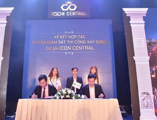 Ký kết hợp tác tư vấn giám sát thi công xây dựng dự án Icon Central giữa Danh Việt Group và Apave