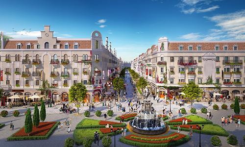 Phối cảnh khu nhà phố cao 5 tầng tại Shophouse Europe.