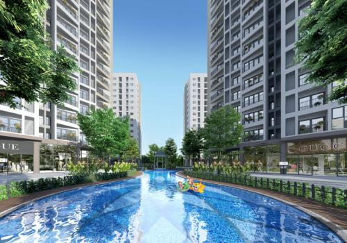 Bể bơi tái tạo năng lượng cho trẻ trong khuôn viên dự án.