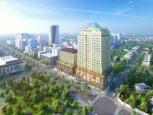 Phối cảnh tòa nhà Golden King toạ lạc 15 Nguyễn Lương Bằng, phường Tân Phú, quận 7, TP HCM.