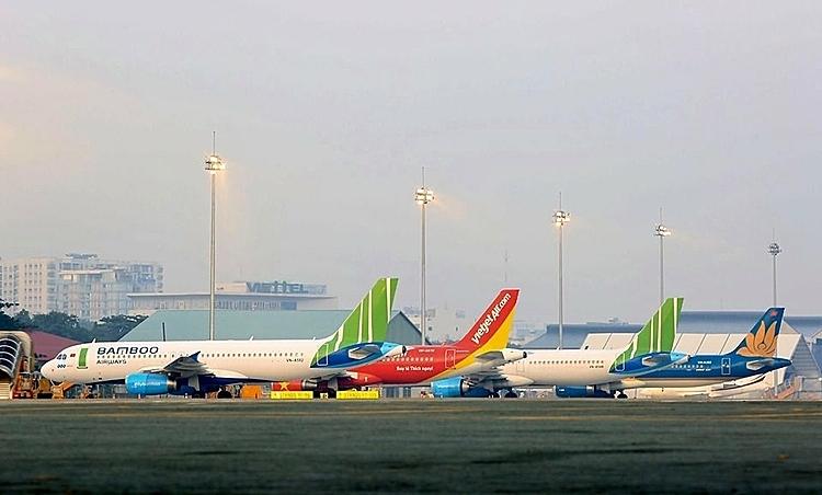 Máy bay của các hãng hàng không Việt. Ảnh: HO.