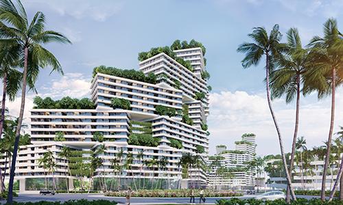 Thiết kế độc đáo của tổ hợp căn hộ biển thuộc dự án Tổ hợp du lịch - giải trí - nghỉ dưỡng và thể thao biển Thanh Long Bay.
