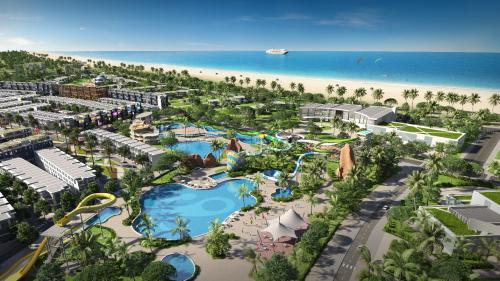 Phối cảnh một dự án bất động sản nghỉ dưỡng ven biển miền Trung.