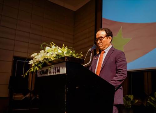 Ông Choi Sung Keun - Chủ tịch của Daedong Korea Ginseng phát biểu tại hội nghị.
