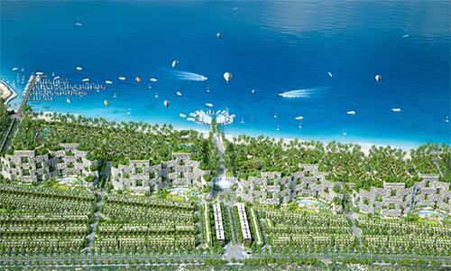 Phối cảnh tổng thể Tổ hợp du lịch - nghỉ dưỡng - giải trí và thể thao biển Thanh Long Bay.