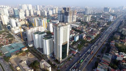 Một khu vực tập trung nhiều dự án chung cư của Hà Nội. Ảnh: Giang Huy