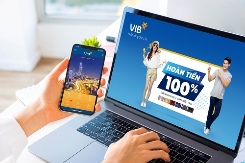VIB hoàn 100% giá trị giao dịch qua thẻ tín dụng - ảnh 1