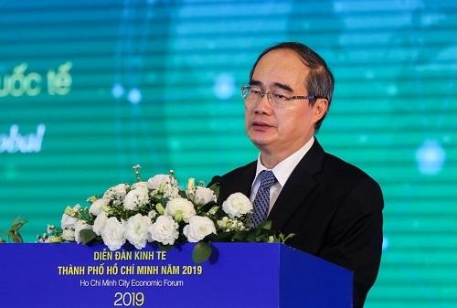 Ông Nguyễn Thiện Nhân - Bí thư Thành ủy TP HCM. Ảnh: Quỳnh Trần.